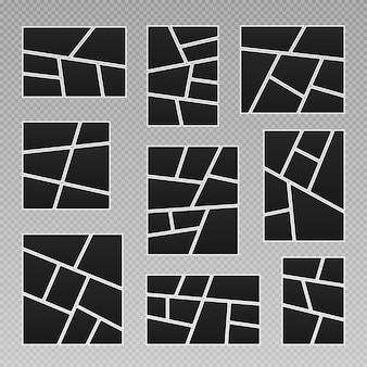 Cornice per foto e foto collage di foto puzzle di foto