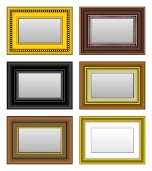 Cornice per foto specchio per foto. un set di cornice per foto e specchio.