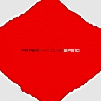 Pagina delle carte lacerate bianche su fondo rosso, illustrazione