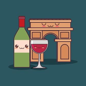 Cultura francese con arco di trionfo