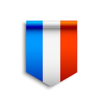 Bandiera francia. nastro.