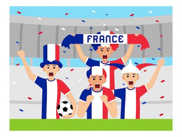 Sostenitori della francia in design piatto