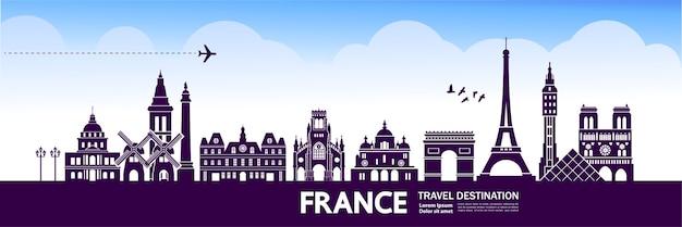 Destinazione di viaggio in francia.