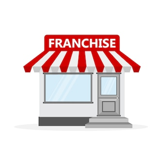 Concetto di business in franchising. illustrazione.