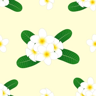 Frangipani su sfondo beige avorio