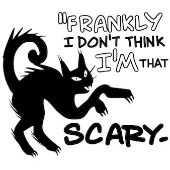 Francamente non credo. sono così spaventoso, illustrazione, scarabocchi disegnati a mano carini