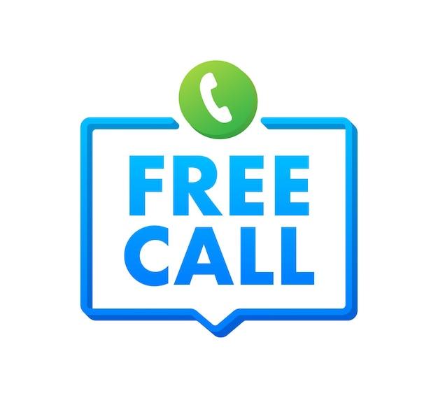 Chiamata gratuita. tecnologie dell'informazione. icona del telefono. assistenza clienti. illustrazione di riserva di vettore.