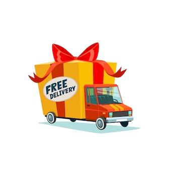 Concetto di consegna gratuita.