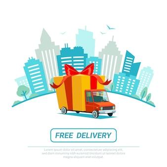 Concetto di consegna gratuita