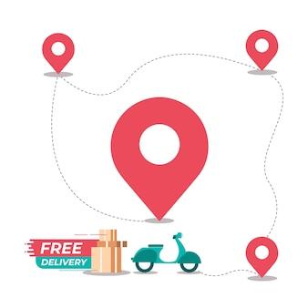 Modello di vettore di spedizione gratuita di consegna gratuita
