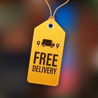 Illustrazione di consegna gratuita
