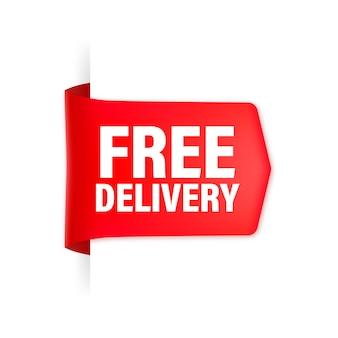 Nastro rosso di consegna gratuita