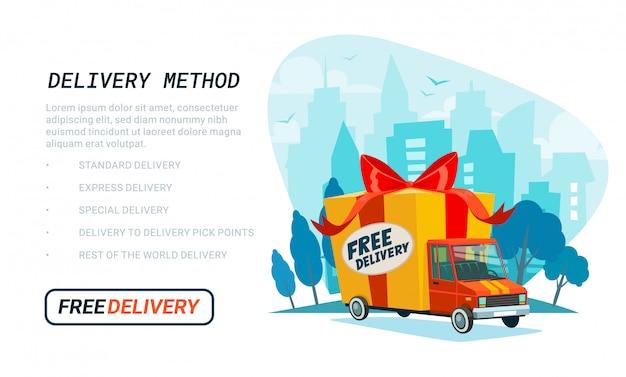 Modello di consegna gratuita.