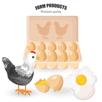 Pollo e uova di galline ruspanti