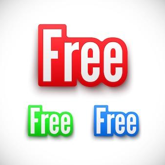 Set di adesivi gratuiti.