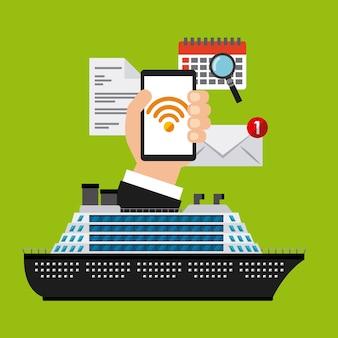 Wifi gratuito a bordo design