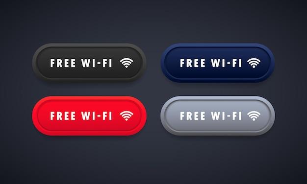 Icone di rete wireless wi-fi gratuite. simboli bloccati della zona wi-fi. vettore su sfondo isolato. env 10.