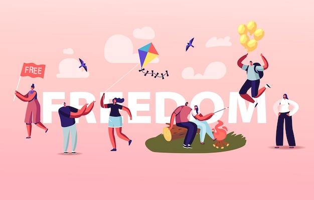 Illustrazione di libertà