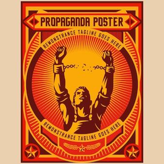 Poster di propaganda della libertà