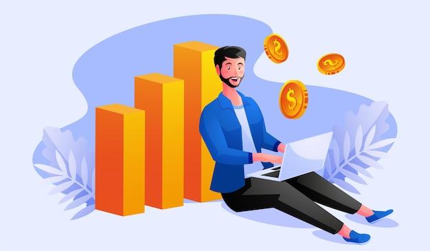 Libero professionista si rilassa lavorando e guadagna un sacco di soldi
