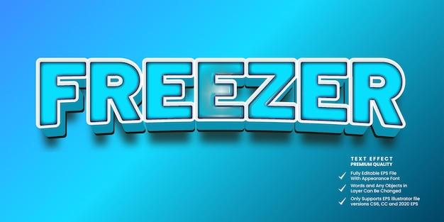Effetto di testo modificabile congelatore