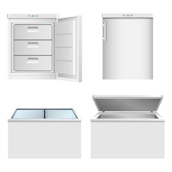 Set di icone del congelatore