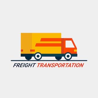 Concetto di trasporto merci