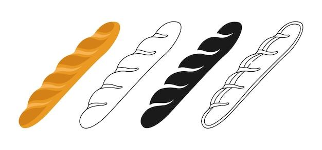 Set di clipart baguette francese