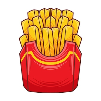 Illustrazione di patatine fritte in stile moderno design piatto