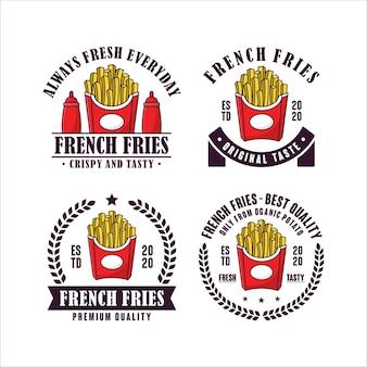 Collezione di logo di patatine fritte