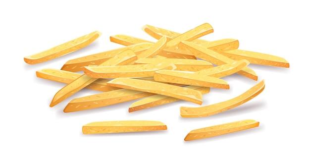 Patatine fritte mucchio sovrapposto.