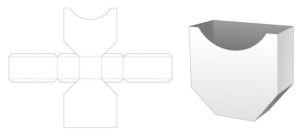 Modello fustellato di scatola esagonale disuguale di patatine fritte