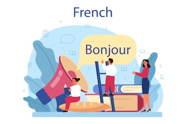 Concetto di apprendimento francese