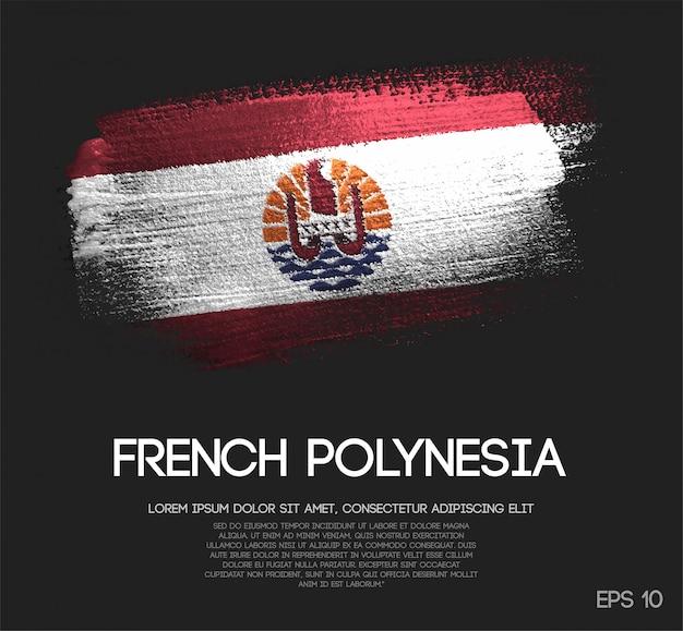 Bandiera polinesia francese realizzata con vernice a scintillio glitter sparkle