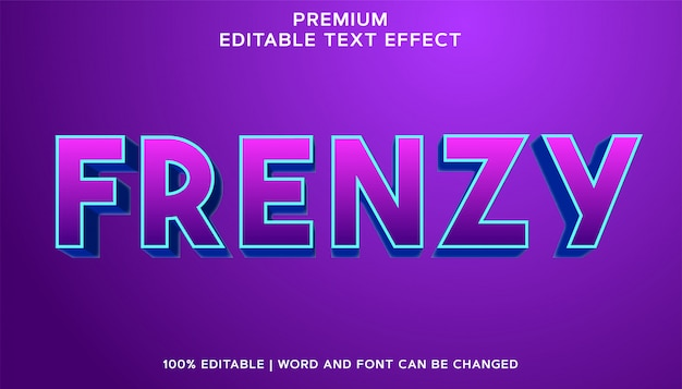 Frenzy - stile effetto testo modificabile