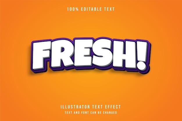 Fresco, effetto di testo modificabile 3d bianco effetto stile viola gradazione