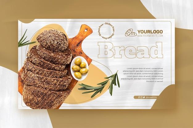 Modello di banner di pane fresco