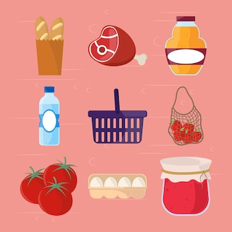 Acquisto di generi alimentari freschi