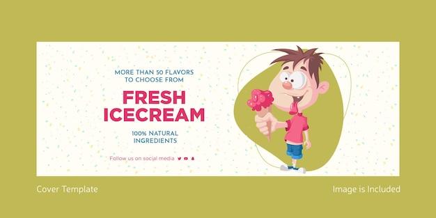 Design della copertina del gelato fresco