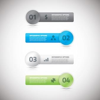 Illustrazione eps illustrazione vettoriale di banner di business infografici freschi