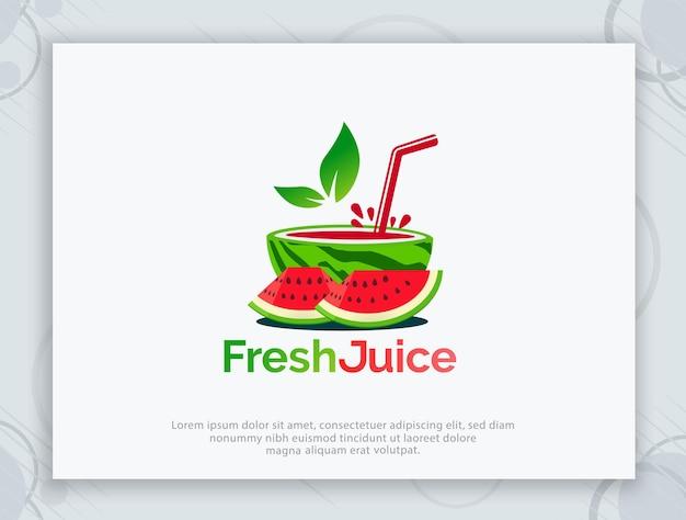 Disegno del logo vettoriale di succo fresco