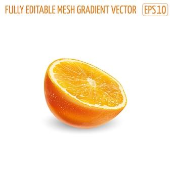 Arancia fresca e succosa - disegno di cibo sano.