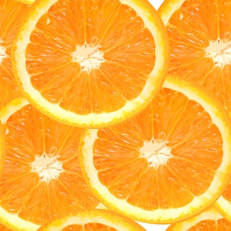Illustrazione di vettore del fondo senza cuciture arancia succosa fresca