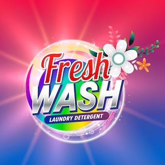 Confezionamento fresco di detersivo o imballaggio di prodotti per la pulizia del doap con elemento fiorito