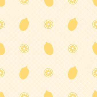 Modello senza cuciture di limone fresco