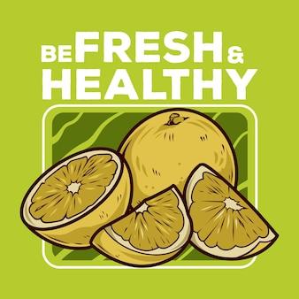Disegno di illustrazione vettoriale di limone fresco
