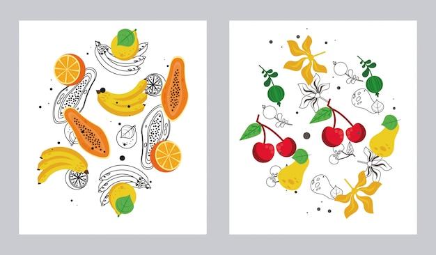 Set di frutta fresca locale