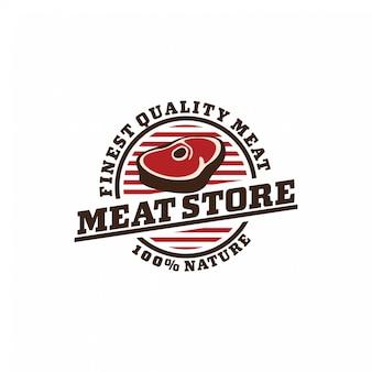 Concetto di distintivo logo di carne fresca