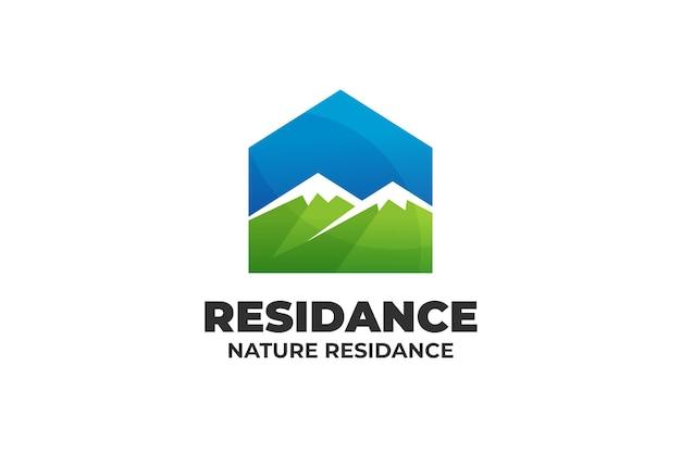 Fresh nature residence house logo