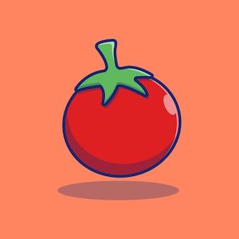 Concetto premio di progettazione dell'illustrazione di vettore della frutta rossa fresca del pomodoro